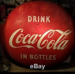 1950's Original 48 Coca Cola Button Sign