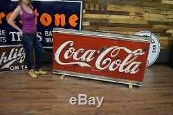 1950's RARE Coca Cola porcelain NEON sign WILL SHIP Soda POP advertising
