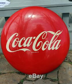 1950s 36 Drink COCA COLA BUTTON Sign AM SIGN CO