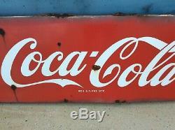 1950s COCA COLA Porcelain Sled Sign