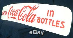 1950s Coca Cola Porcelain Sign Delivery Truck Header NEW OLD STOCK Minty Coke