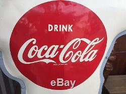 1950s Coca-Cola School Street Crossing Police Guard Sign (Very Good Condition)