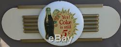 1950s Kay Display COCA COLA Wings Sign with 12 White 5c Spriteboy Button
