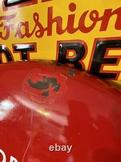 1950s Original Coca-Cola Button Porcelain Sign 24 Inch