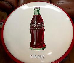 1950s Rare White Porcelain 36 Coca Cola Button With Iconic Coke Bottle