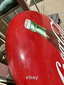 1950s Vintage Coca Cola Porcelain 36 Bottle Button Sign Been Touched Up