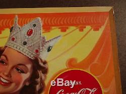 1951 Coca-Cola Double-Sided Cardboard Sign-Circus/Cowgirl Images