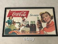 1954, Vintage, Original, Scarce Coke Cardboard Sign, So Easy! , EXCELLENT/+