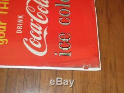 1956 (dated) Coca-Cola cardboard signMatch your thirstAfrican American couple