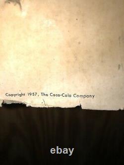 1957 56 1/2 drink coca cola sign