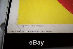 1957 Rare Coca Cola Me too! Cardboard Advertisement Display in Original Frame
