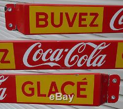 1959 French-Canadian Coca-Cola porcelain door push pushbar sign Coke FREE SHIP
