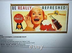 1959, Vintage, Original, Scarce Coke Cardboard Sign, Be Really Refreshed! , VG+