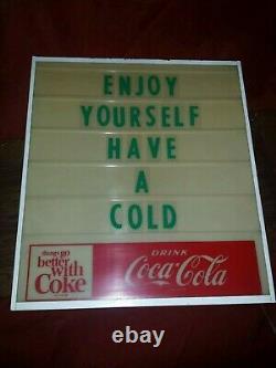 1960's Coca-Cola Lighted Menu Board Sign