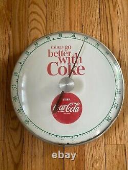 1960s Coca Cola Coke soda red button Pam 12 Thermometer