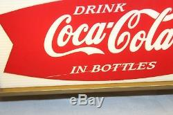 1960s Coca-Cola fishtail light-up Starburst sign with gold bottle