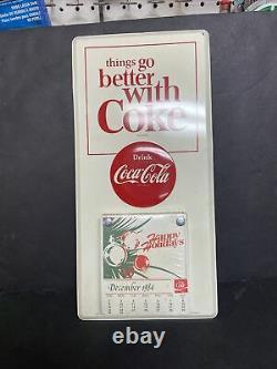 1964 COCA-COLA Tin CALENDAR SIGN
