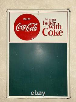 1964 Coca-Cola Things Go Better With Coke Vintage Chalkboard Menu Metal Sign
