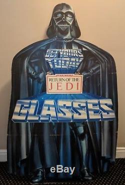 1983 Star Wars ROTJ Vader Burger King Glasses Coca Cola Standee Floor Display