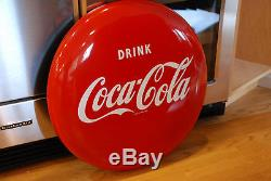 24 Red Enamel Vintage Drink Coca Cola Button Sign