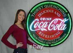 2 Coca Cola neon sign Machine wall Lamp light Vendo 39 81 44 hand blown Glass