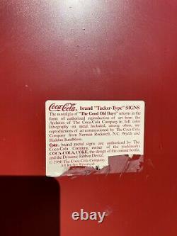 31 Year Old Vintage 1990 Drink Coca Cola Soda Pop Gas Oil 24 Metal Button Sign