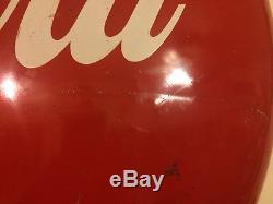 36 Inch CocaCola Non Porcelain Button Sign