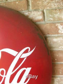 36 Porcelain Enameled Coca-Cola Round Button Sign