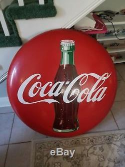 36 inch Coca Cola Porcelain metal Button