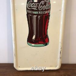 40 Vintage Jan 1947 Coca Cola Bottle Pilaster Porcelain Sign A-M Original