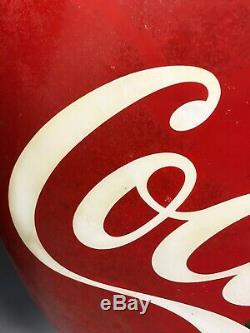 48 Coca Cola Button Vintage Original Porcelain Metal Rare Coke Advertising Sign