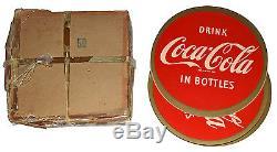 50 Coca-Cola NOS 1954 Drink Coca-Cola In Bottles 9 1/4 Decal-Mint