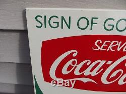 50's 60's Coca-Cola Rack Sign of Good King Size Taste Vintage Coke Rare Arciform