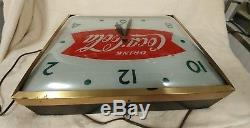 50s vintage Coca-Cola Light Up Advertising Clock Sign lighted Swihart pam bubble