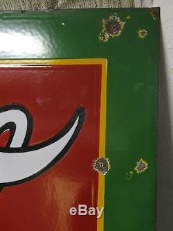 54 Large 1930 Coca Cola SSP Porcelain Store Sign Tenn Enamel RARE SIZE V-Fine