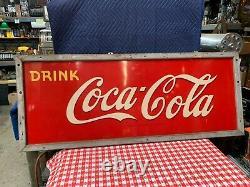 60 COKE Coca-Cola Tin Advertising Sign Watch Video