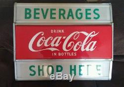 60's Coca Cola light up sign COKE lighted Hanover Corp. Columbus, Ohio- 27-NICE