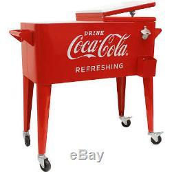 80-Quart Retro Coca-Cola Cooler Refreshing