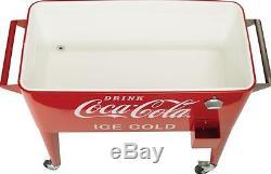 80-Quart Retro Coca-Cola Cooler Refreshing with Tin Opener