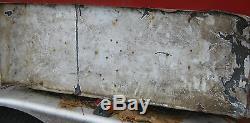 ANTIQUE 1950's RETRO COCA COLA FISH TAIL SLED SLEIGH PORCELAIN SODA ART SIGN
