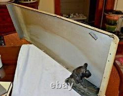 ANTIQUE 1950's RETRO USA COCA COLA FISH TAIL SLED SLEIGH SODA ART SIGN