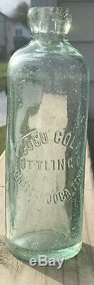 Antique Beautiful Coca Cola Hutchinson Bottle Chattanooga, Tenn. Very Scarce