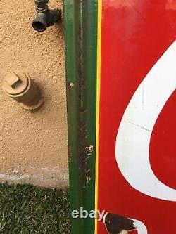 Antique Coca Cola Fountain Sign 60.5x45.5