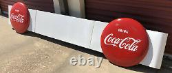 Antique Coca Cola Porcelain Sign Double 24 Button Merchandizer Panel Rare