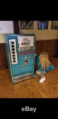 Antique Frosty Rootbeer Sign Soda Machine Coca Cola Coke Vendo 63 Bottle Cooler