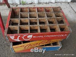Antique Metal Coca-Cola Bottle Rack Place Empties Here and crates #05231720