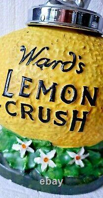 Antique Original Ward's Lemon Crush Soda Fountain Syrup Coca Cola Dispenser