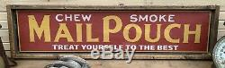 Antique Style Mail Pouch Tobacco Wooden Sign 12x48 WOW! Best Repo