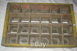 Antique Texas Coca Cola Wood Box Glass Bottle Art Crate Holder Sign USA States