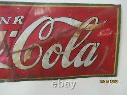 Antique Tin Coca Cola Sign C1932